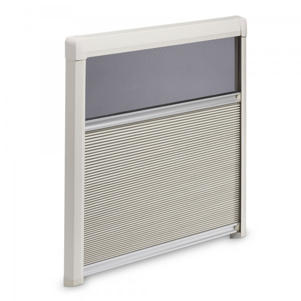 Dometic DB3H Roller Blind double-pleated, 1585 x 800 mm, creme-white