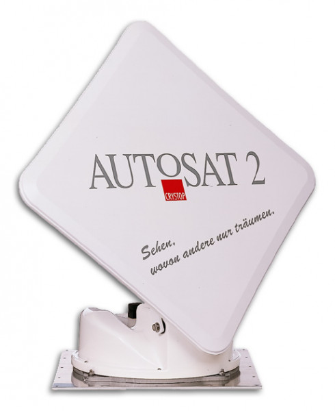 Crystop AutoSat 2F satellite system, TWIN, 65 cm, with multi control unit