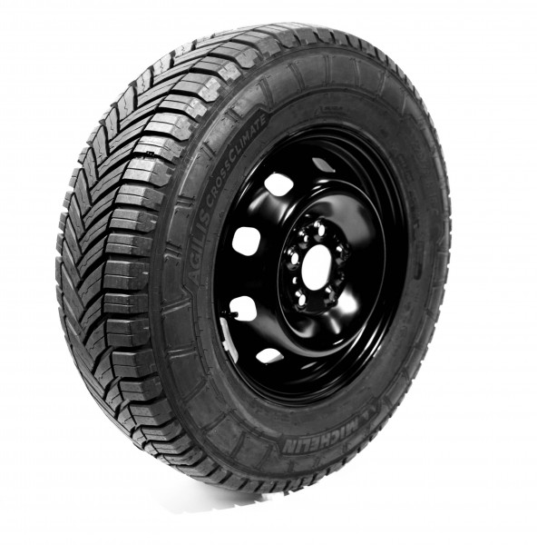 4x Michelin Agilis CrossClimate, 225/75 R16 C 118 / 116R M + S, all-season complete tires Fiat Ducato Light