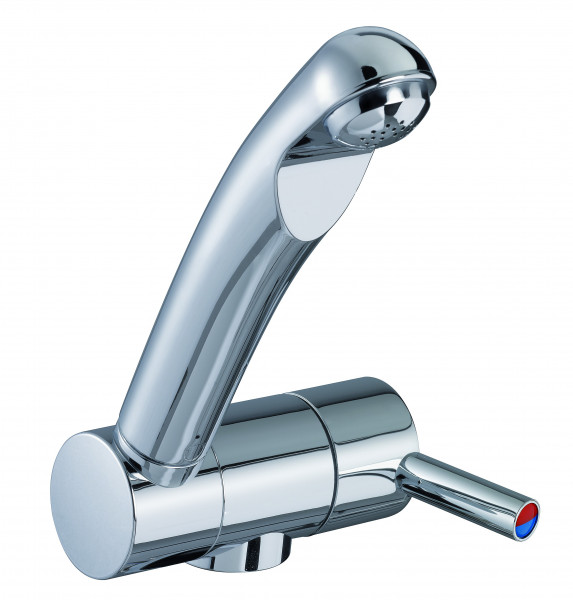 Reich single-lever mixer TREND B, projection curved, vertically rotatable, chrome, with microswitch