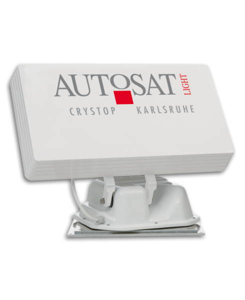 Crystop AutoSat Light FO SAT-Anlage, TWIN, 45 cm, mit 1-Knopf-Bedienteil