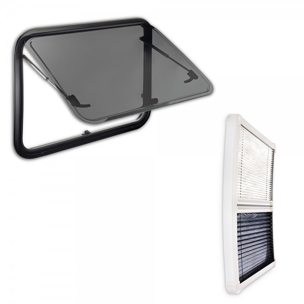 Dometic Seitz S7P hinged window 560 x 465 mm with pleated inner frame