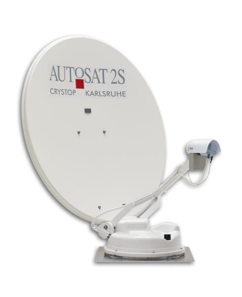 "Crystop AutoSat 2S 85 Control ""SWISS EDITION"" SAT-System, DUAL LNB SINGLE, 85 cm, with multi control"